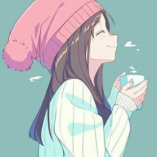 happy coffee girl