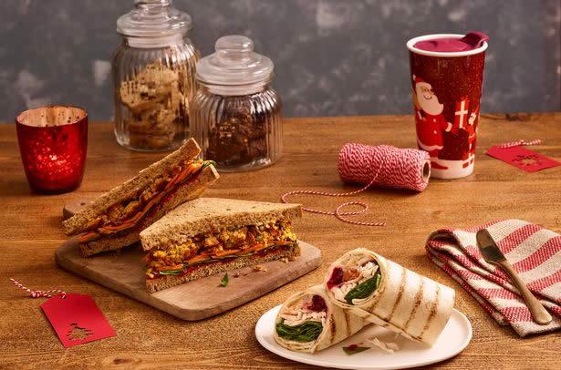 British Turkey Bacon Stuffing Wrap and Veggies Under Vests Sandwich no vignette
