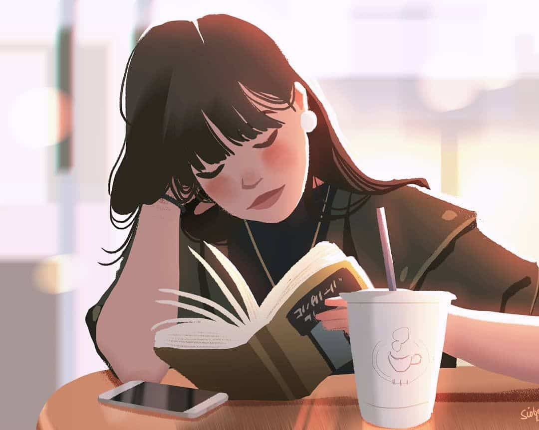 study at coffee shop