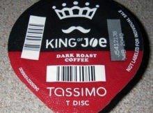 King of Joe Dark Roast T-Discs for Tassimo