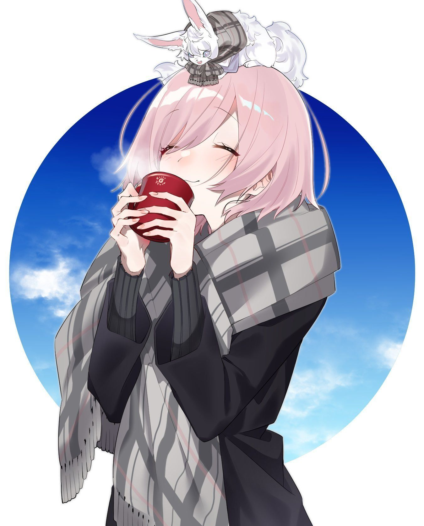 mashu looks excited for some coffee