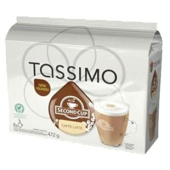 Second Cup Caffe Latte T-Discs for Tassimo