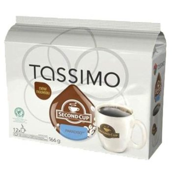 Second Cup Paradiso Coffee T-Discs for Tassimo
