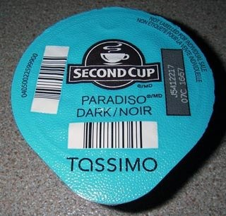 Second Cup Paradiso Dark Coffee Tassimo pods