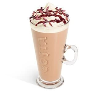 black forest and cream hot chocolate