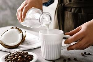 Non dairy coconut milk for coffee