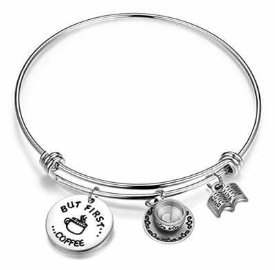 coffee charms bracelet