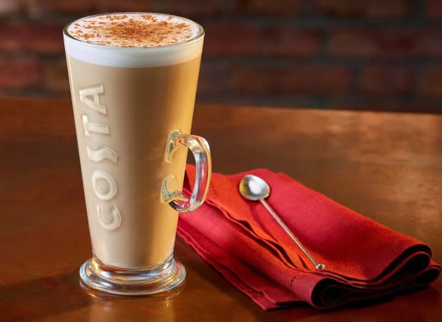 costa coffee spiced latte