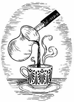 Yemen monks making coffee